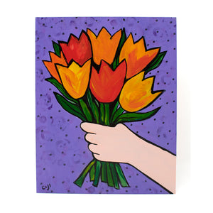 Tulip Bouquet Painting