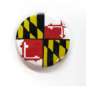 Maryland State Flag Magnet, Pin, or Mirror