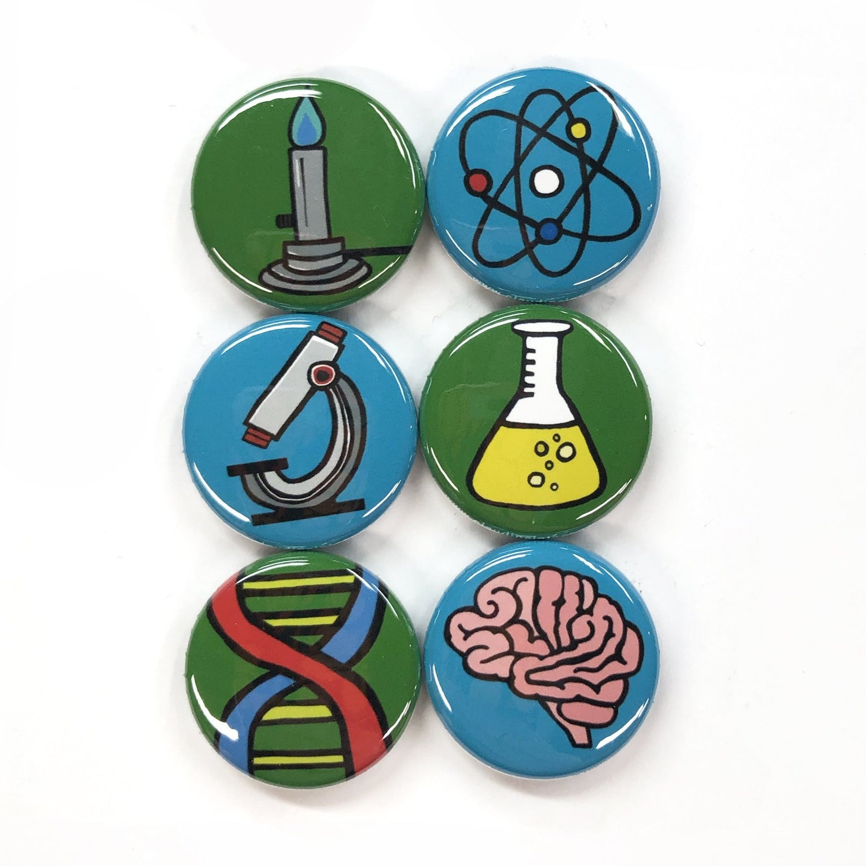Science Magnet or Pin Back Button Set
