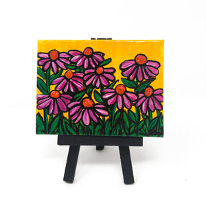 Mini Coneflower Painting