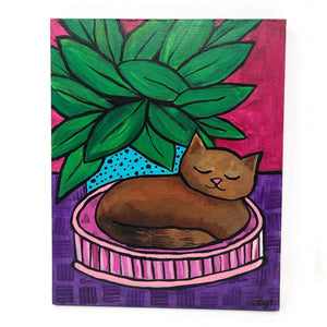Cat Nap Painting
