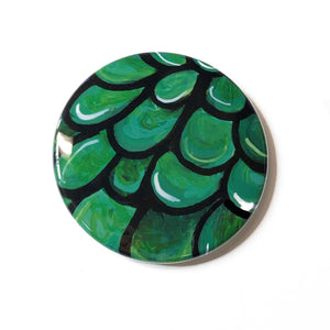 Jade Plant Magnet, Pin Back Button, or Pocket Mirror - Succulent Lover Gift, Party Favor - Fridge Magnet, Pinback, or Purse Mirror