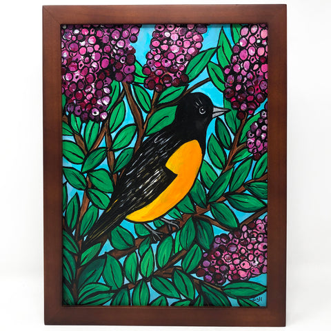 Oriole with Crape Myrtle