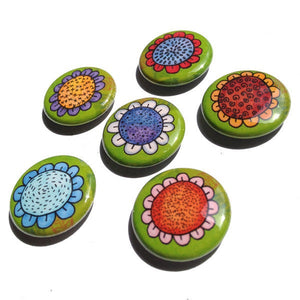 Whimsical Flower Magnets or Pins