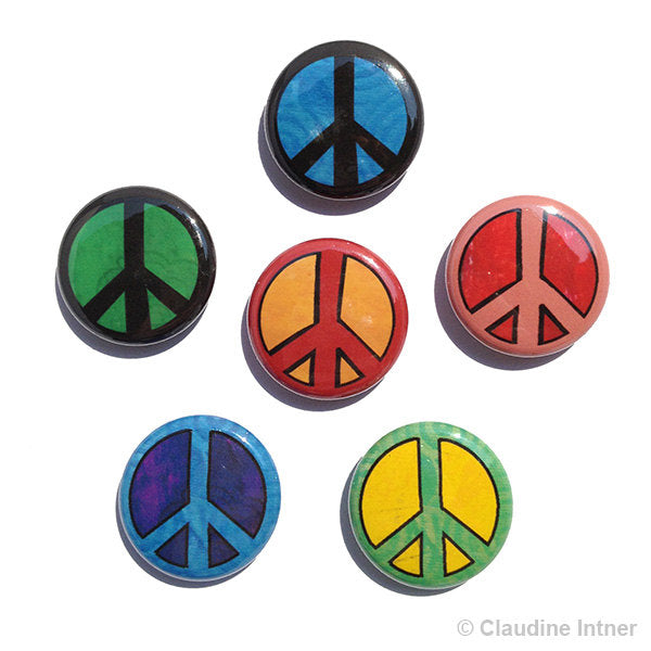 Peace Sign Magnets or Peace Sign Pins