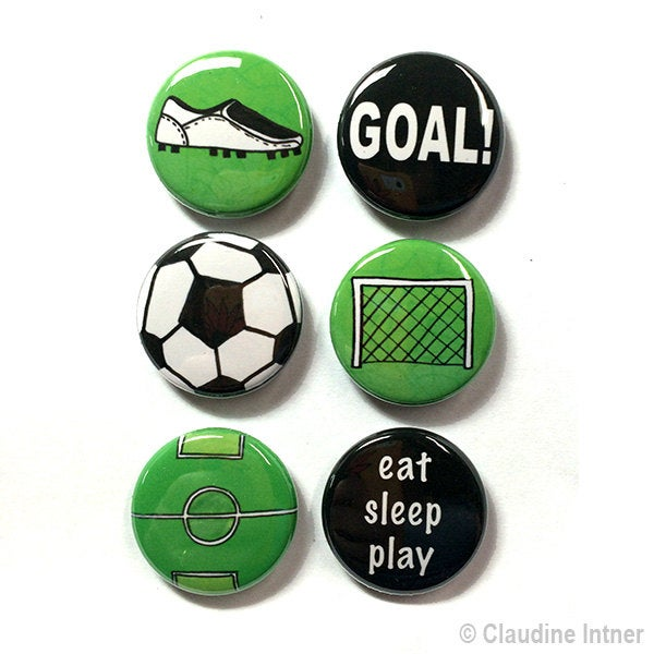 Soccer Magnets or Pins