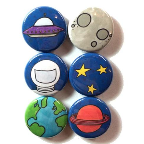 Outer Space Magnets or Pinback Buttons