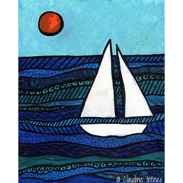Sailboat Art Print - Nautical Decor