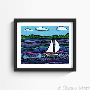Breezy Day Art Print