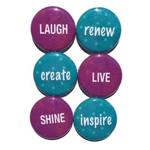 Word Magnet Set or Pinback Button Set