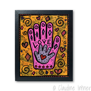 Mother's Love Hamsa Art Print
