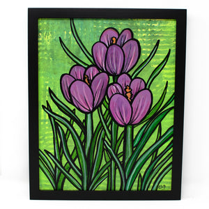Purple Crocus Painting