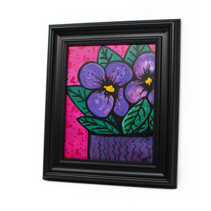 Purple Pansy Painting