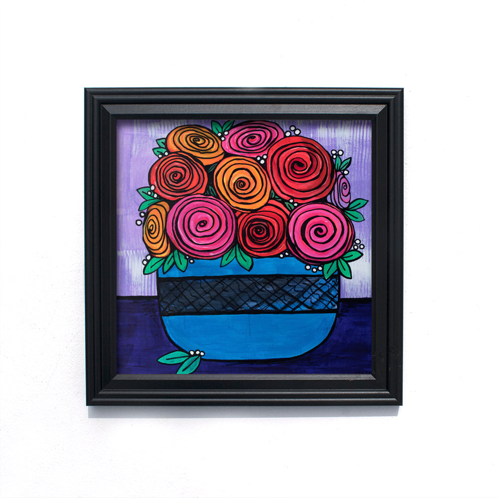 Bowl of Roses Art Print