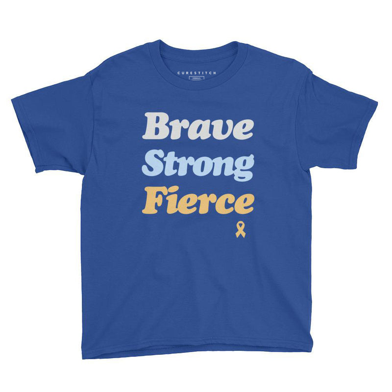 Youth Boys' | 'Brave Strong Fierce' T-Shirt