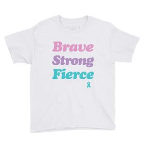 Youth Girls' | 'Brave Strong Fierce' T-Shirt