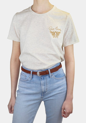 Women's | 'Bee-lieve' Embroidered T-Shirt