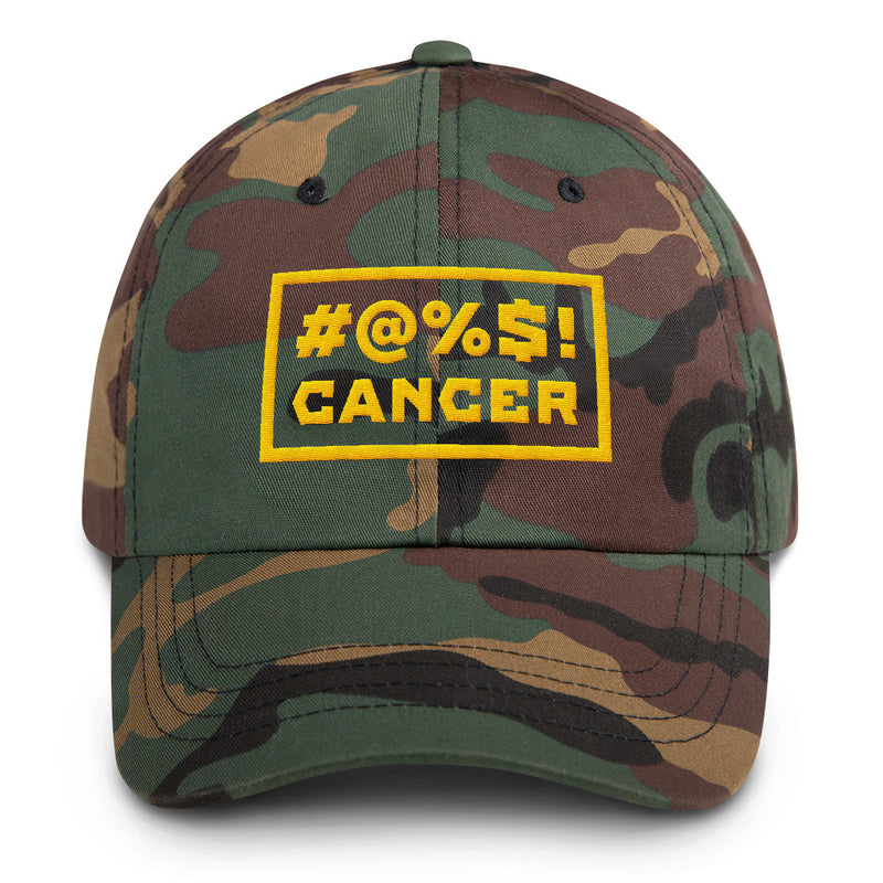 '#@%$! Cancer' Camo Dad Hat