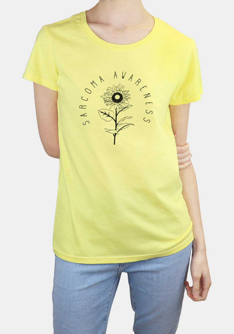 Women's | 'Sarcoma Awareness Sunflower' T-Shirt