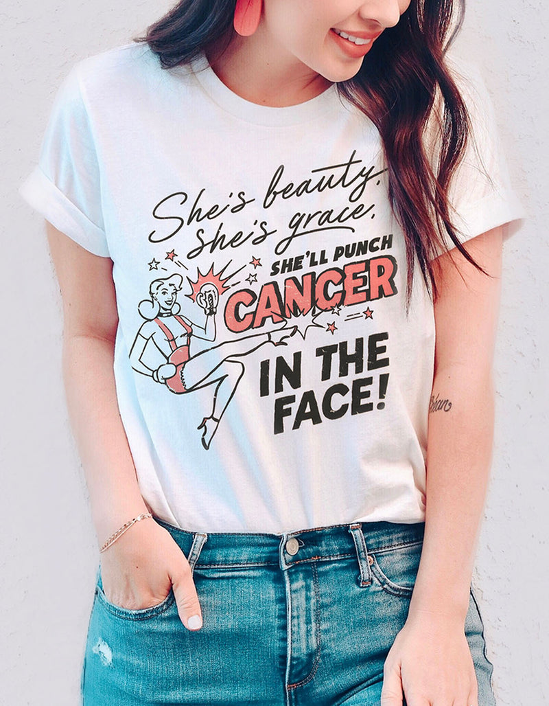 Women's | She'll Punch Cancer in the Face T-Shirt