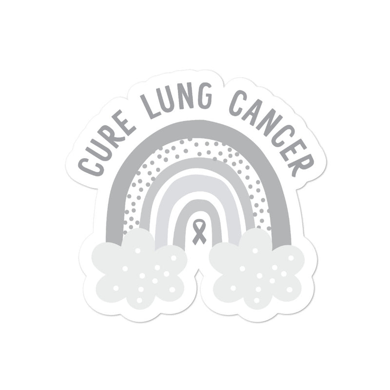 'Rainbow' Lung Cancer Sticker