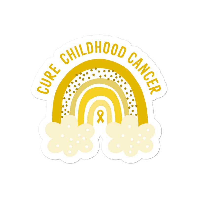 'Rainbow' Childhood Cancer Sticker
