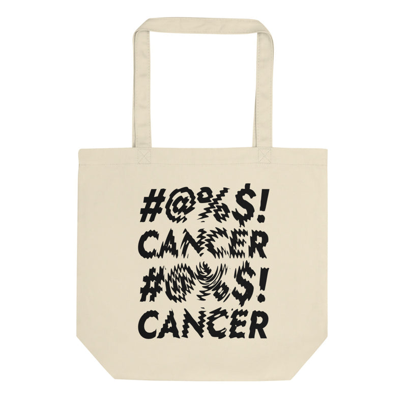 '#@%$! Cancer' Organic Tote Bag