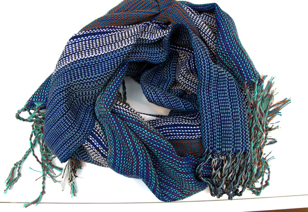 The Goddess handwoven cotton scarf