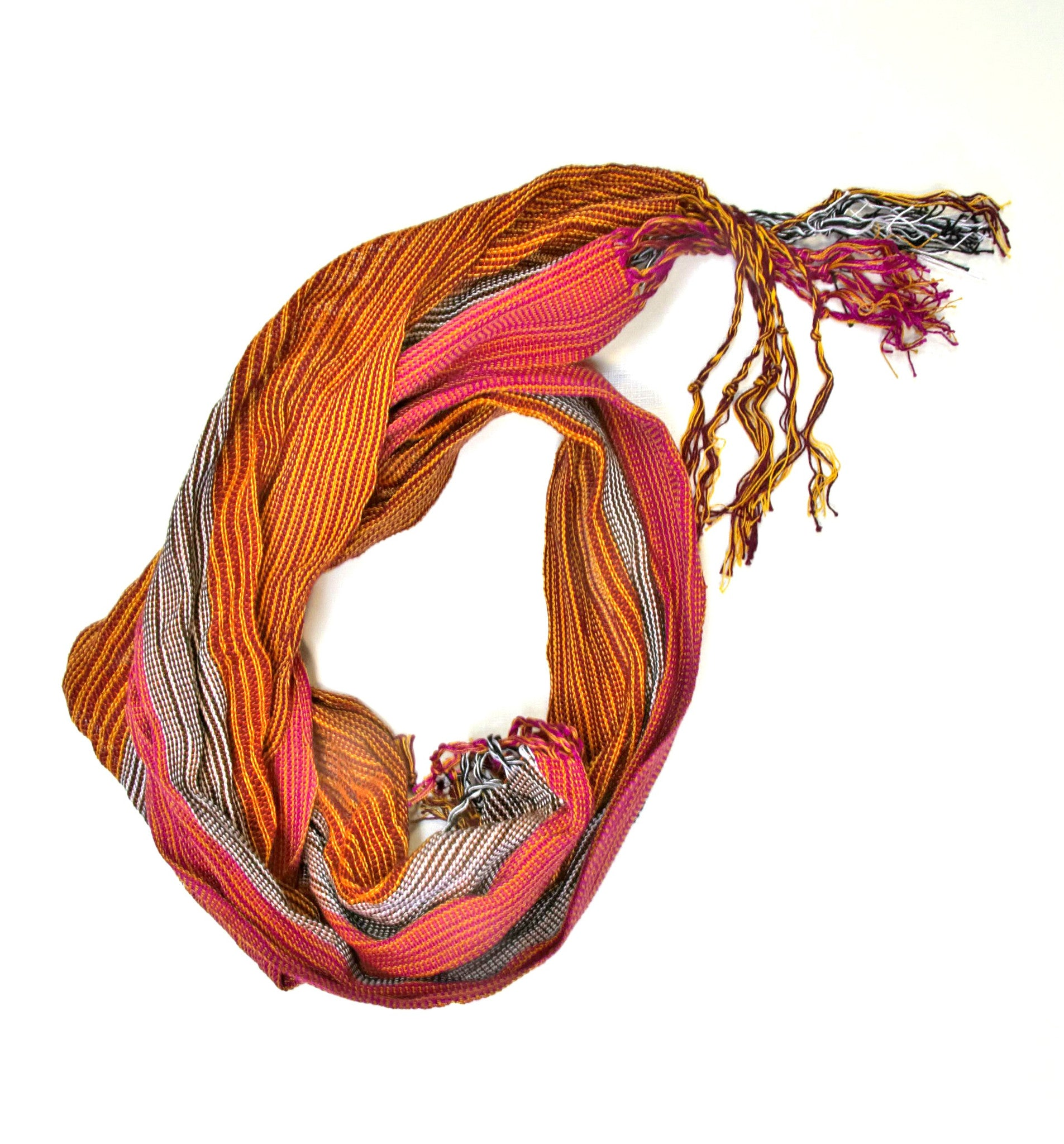 The Goddess handwoven cotton Skinny scarf