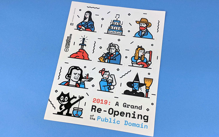 A Grand Reopening of the Public Domain Sticker Sheet