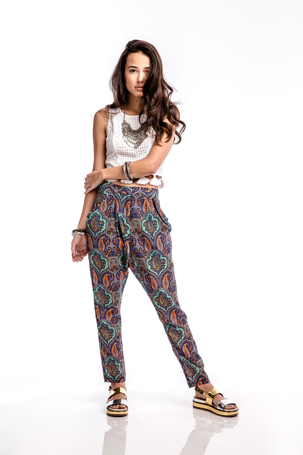 TOLA Kings Slouchy Pant - Blue