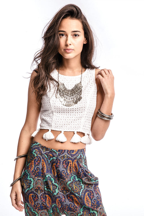 TOLA Franklin Crop Top with Tassels