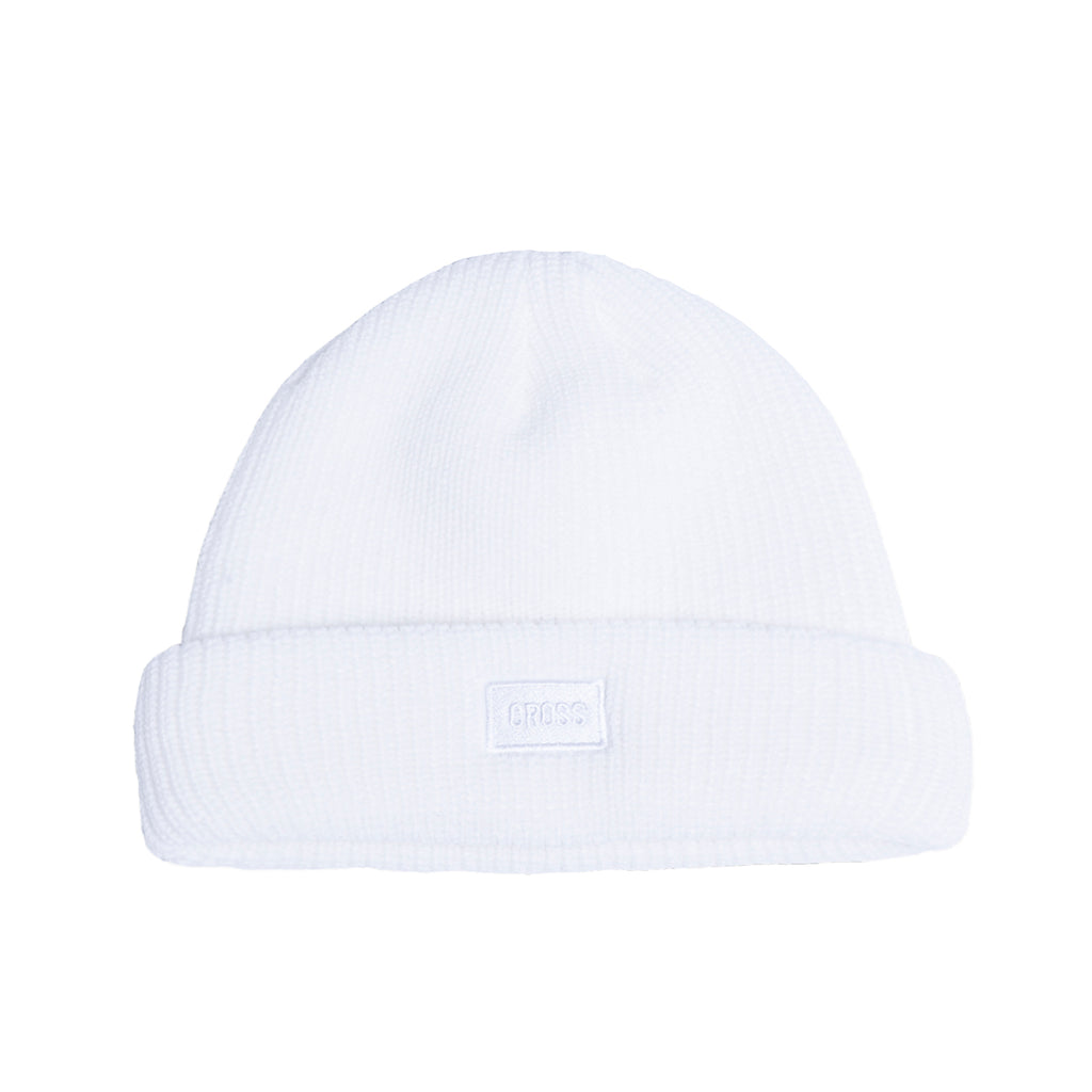 Logo Embroidered Beanie / White