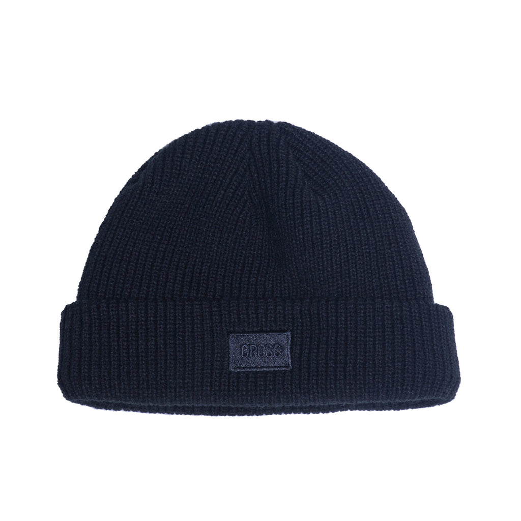 Logo Embroidered Beanie / Black