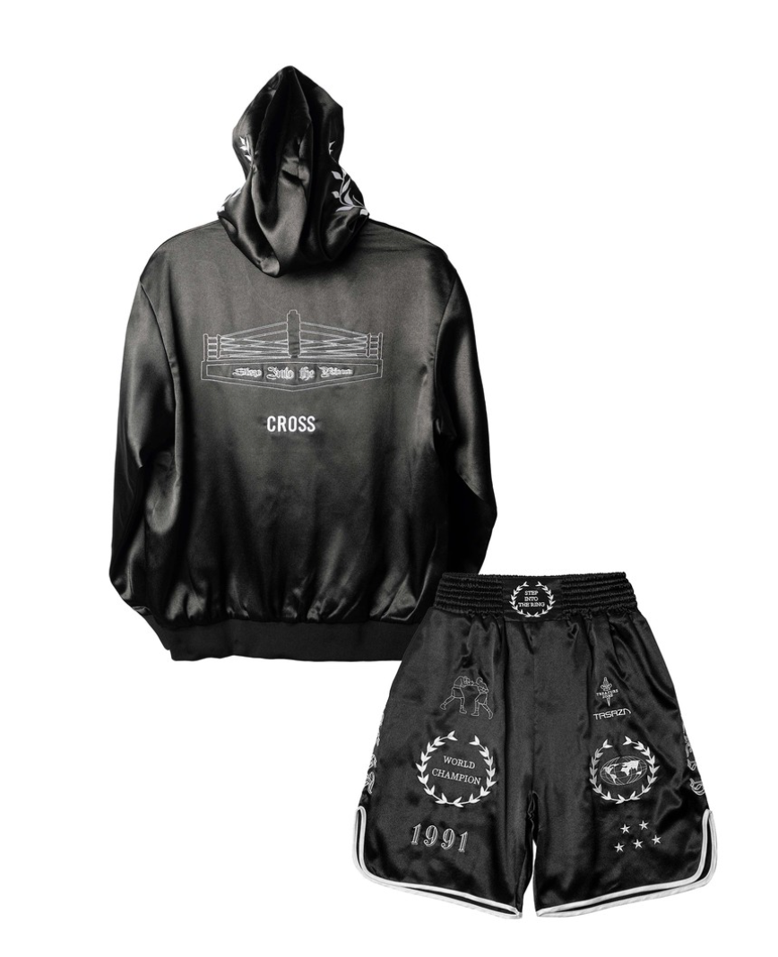 CROSS X TRSRZN Embroidered Silk Full Set / Black & White