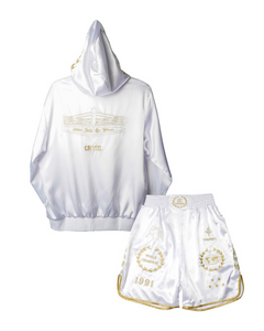 CROSS X TRSRZN Embroidered Silk Full Set / White & Gold