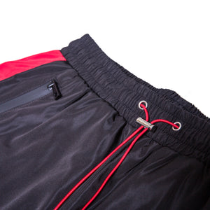 Cargo Track Pants / Black & Red