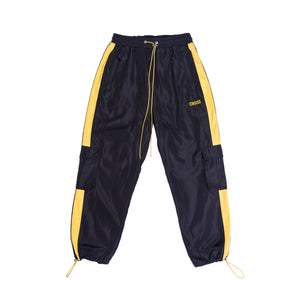 Cargo Track Pants / Black & Yellow