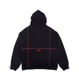 CROSS Embroidered Hoodie / Black