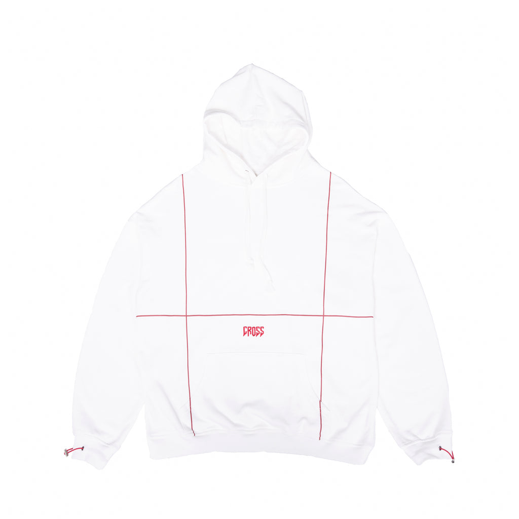 CROSS Embroidered Hoodie / White