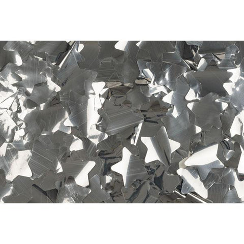 Show Confetti Metal - Silver, Stars, 1 kg Flameproof