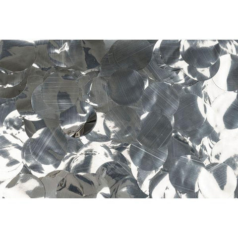 Show Confetti Metal - Silver, Circle, 1 kg Flameproof