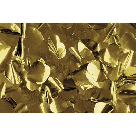 Show Confetti Metal - Gold, Hearts, 1 kg Flameproof