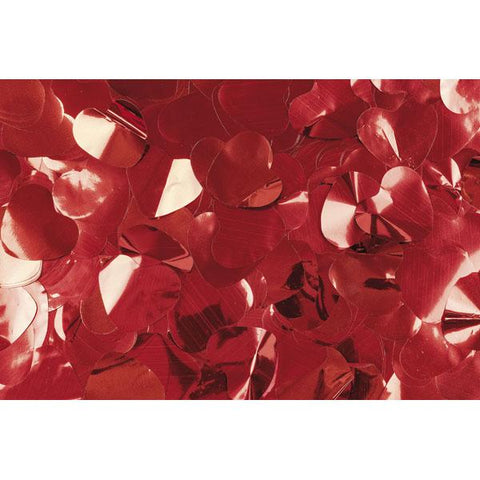 Show Confetti Metal - Red, Hearts, 1 kg, Flameproof