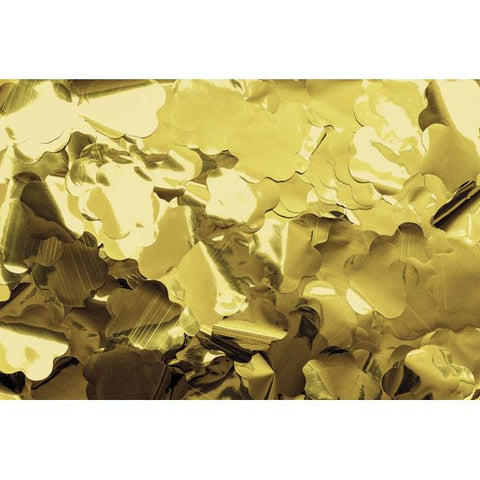 Show Confetti Metal - Gold, Flowers, 1 kg, Flameproof