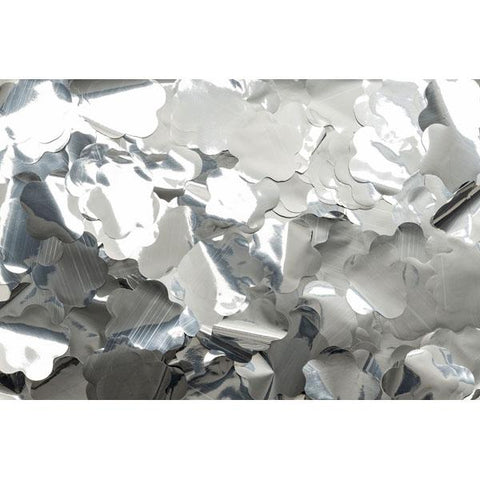 Show Confetti Metal - Silver, Flowers, 1 kg, Flameproof