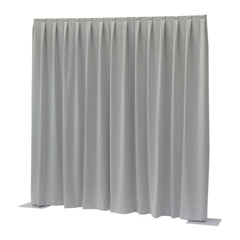 P&D curtain - Dimout - Pleated, 300(w) x 400(h)cm 260 Gram/M2, Ligth grey