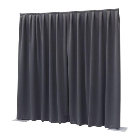 P&D curtain - Dimout - Pleated, 300(w) x 400(h)cm 260 Gram/M2, Dark grey