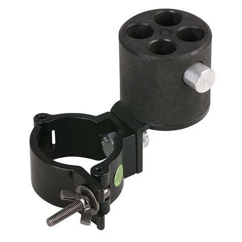 Angled bracket with 4-way con. - & 50mm half coupler