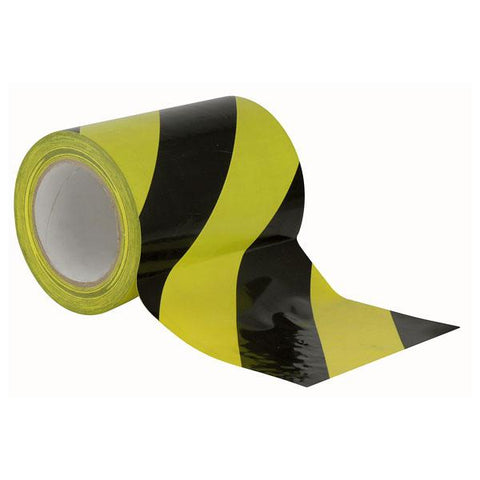 Floor-Marking tape 150 mm - Black/Yellow, 150mm / 33m